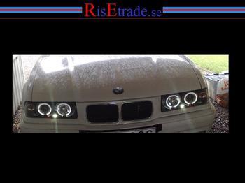 BMW E36 Angel Eyes svarta till coupé och cabriolet