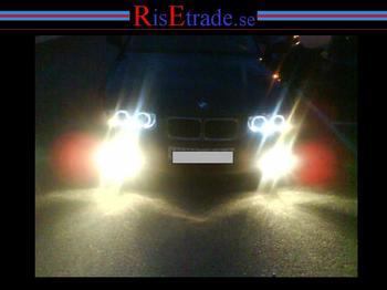 BMW E36 Angel Eyes Kromade till sedan/touring, compact*