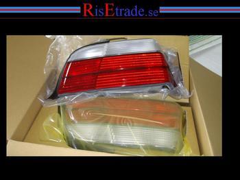 Baklysen orginallook rödvita till coupé och cab.
