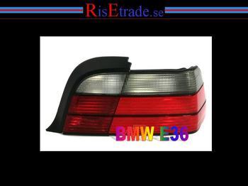 Baklysen originallook rödsvart till coupé och cab.