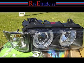 "BMW E36 Angel Eyes ""orginallook"" svarta till 4d sedan/touring"