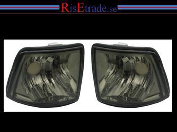 Frontblinkers kristall svart alla BMW E32