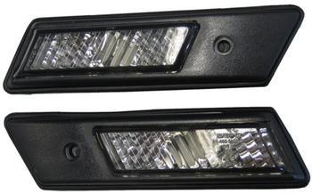 Sidoblinkers kristall svart med svart ram E32, 34, 36