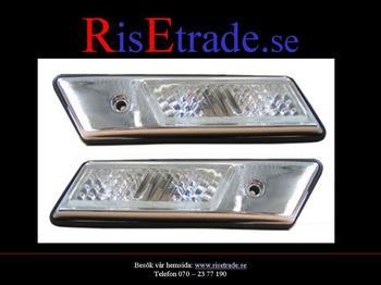 Sidoblinkers kromad  silver med kromad ram E36