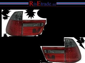 LED Baklysen BMW X5 E53 / röd-röksvart