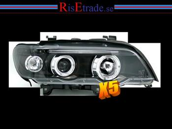 Angel Eyes Strålkastare för BMW X5 E53 / svart