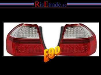LED Baklysen BMW E90 / röd-vit