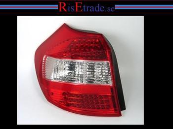 Baklysen E87 Led rödvit