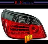 LED baklysen, BMW E60  sedan. rödsvart