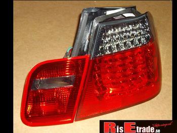 LED Baklysen 3er BMW E46 (Coupe) / Röd-svart