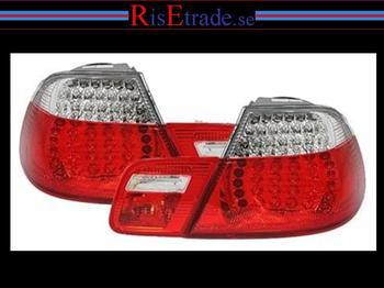 LED Baklysen till 3er BMW E46 (Coupe) / Röd-vit