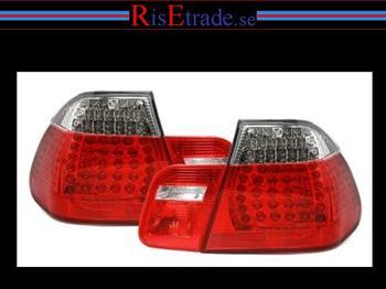 LED Baklampor till  3er BMW E46 rött & vitt till 4d sedan.