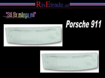Frontblinker till Porsche 911 år. 74-89 / vita