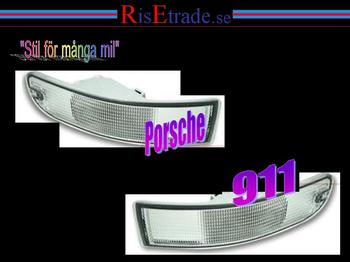 Frontblinkers till Porsche 911 år 94-97 / vita