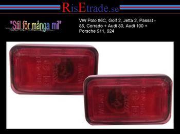 Sidoblinkers till Audi, Porsche, VW / Röd