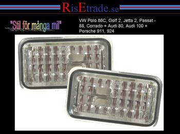 Sidoblinkers till VW/Audi/Porsche Kristall Silver
