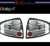 Baklampor med LED ljus. Audi A6 4B C5 / Chrom