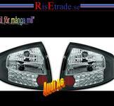 Baklampor med LED ljus. Audi A6 4B C5 / Silverkrom