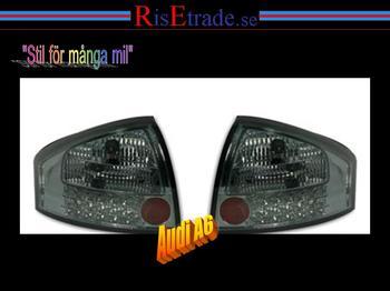 Baklampor med LED ljus. Audi A6 4B C5 / Smoke
