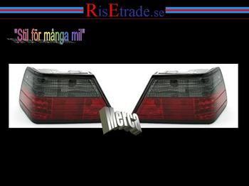 Baklampor med LED ljus Mercedes W124 E / Rödsvart