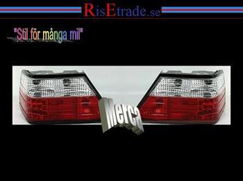 Baklampor med LED ljus Mercedes W124 / Rödvit
