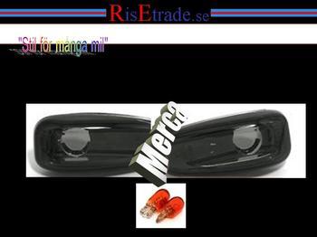 Svarta sidoblinkers till Mercedes W202 + W210
