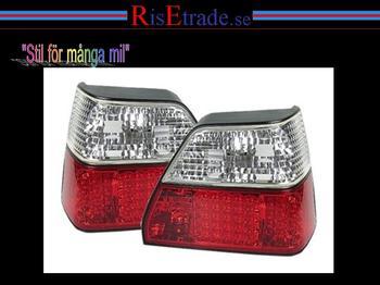LED rödvita baklampor till VW Golf 2