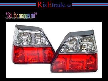 Rödvita baklampor till VW Golf 2