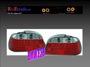 Rödvita LED-baklampor till  7er BMW E38