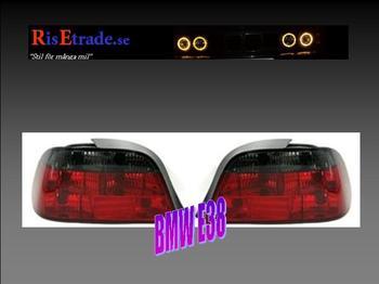 Rödsvarta baklampor till  7er BMW E38