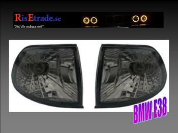 Frontblinker till BMW E38 i svart.