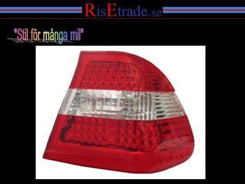 LED baklampor till BMW E46 sedan -8/01 rödvita.