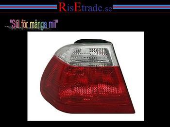 Vänster baklampa till  BMW E46 98-01 4d sedan i rött & vitt.