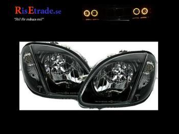 Strålkastarset i svart klarglas till Mercedes SLK