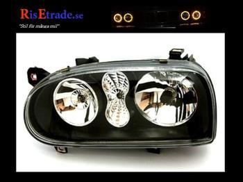 Svarta In Pro strålkastare till Golf 3