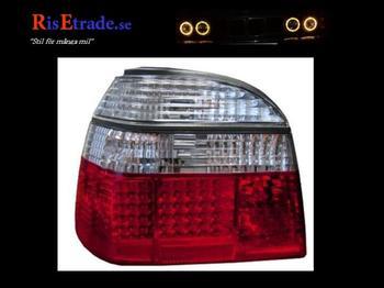 Rödvita LED baklyktor till VW Golf 3 alla utom kombi.