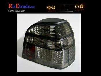 Svarta LED baklyktor till VW Golf 3 alla utom kombi.