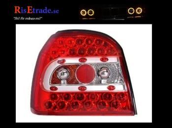 Röda LED baklyktor till VW Golf 3 alla utom kombi