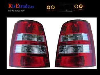 Rödvita baklyktor till VW Golf 3 kombi