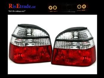 Rödvita baklyktor till VW Golf 3 alla utom kombi från JOM