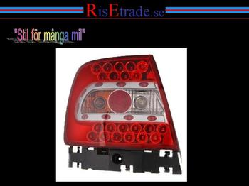 Röda LED baklampor till Audi A4 sedan