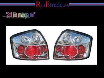 Kromade baklampor  till Audi A4 8E sedan