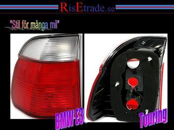 Baklampor rödvit, E39 touring