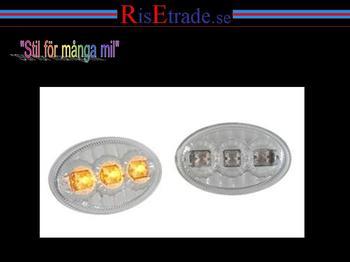 LED sidoblinkers till Opel Corsa, Astra, Tigra i krom.