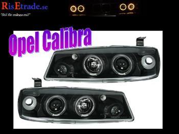 Svarta Angel Eyes till Opel Calibra. Från Raid.