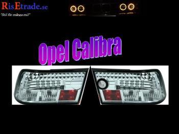Kromade Led bakljus till Opel Calibra.
