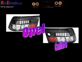 Svarta Led bakljus till Opel Calibra.
