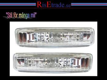 Sidoblinkers i kristallvit silver till BMW E39