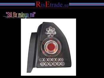 Baklampor, set till Civic 95-99/ svarta (LED)