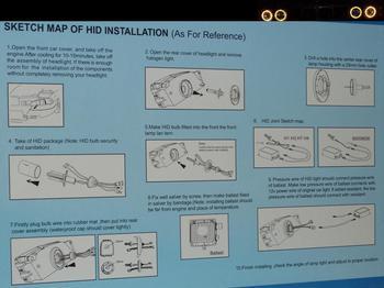 Instruktion för montering av xenon kit